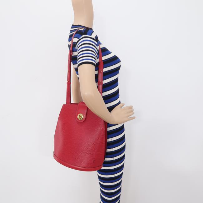 Louis Vuitton Cluny Red Epi Leather Shoulder Bag Louis Vuitton Cluny Red Epi Leather Shoulder Bag Image 12