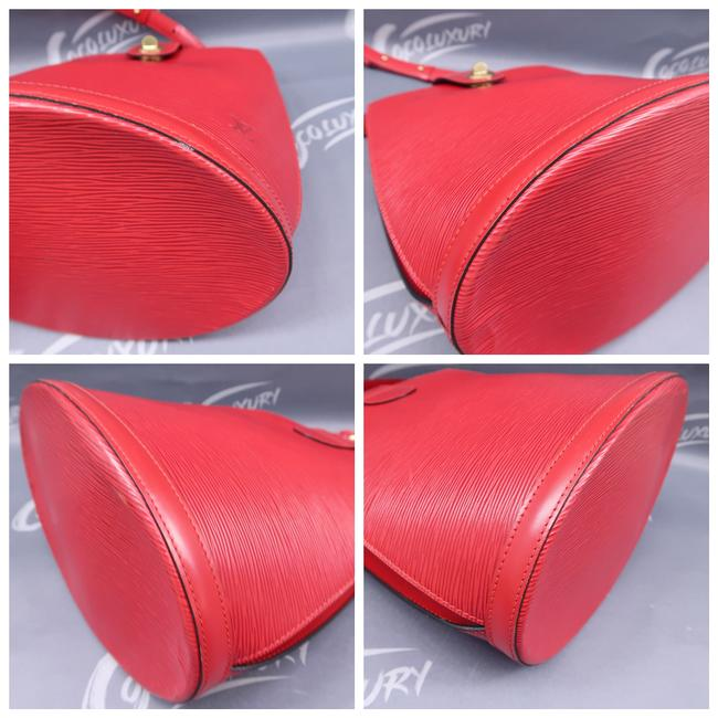 Louis Vuitton Cluny Red Epi Leather Shoulder Bag Louis Vuitton Cluny Red Epi Leather Shoulder Bag Image 4