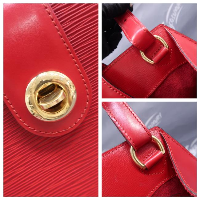Louis Vuitton Cluny Red Epi Leather Shoulder Bag Louis Vuitton Cluny Red Epi Leather Shoulder Bag Image 6