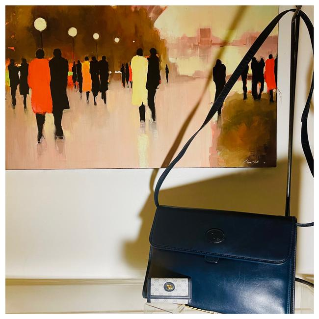 Item - With Logo Keychain Gg Leather Messenger Bag