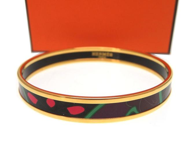 Item - Brown / Pink / Red Color Emaiyu Pm Bangle Cloisonne Ware Breath R Stamped 0100hermes Ladies Bracelet