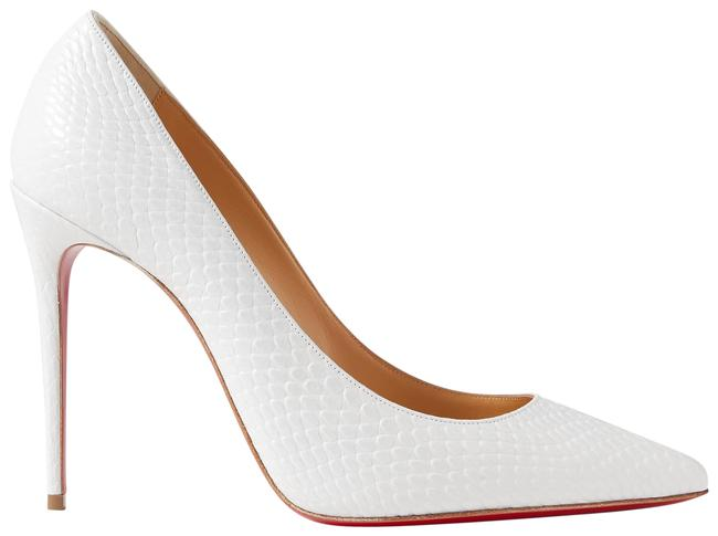 Item - White Kate 100 Snake-effect Leather Pumps Size EU 37.5 (Approx. US 7.5) Regular (M, B)