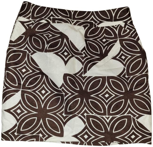 Item - Brown/White Printed Pencil Skirt Size 4 (S, 27)