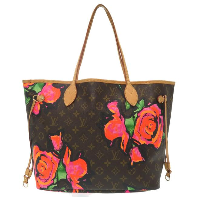 Item - Neverfull Bag Mm M48613 Lv 0257louis Brown / Monogram / Monogram / Monogram Rose / Rose Tote