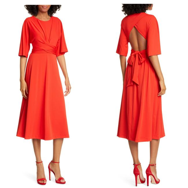 Item - Res Syrrina Open Back Crossover Mid-length Cocktail Dress Size 00 (XXS)