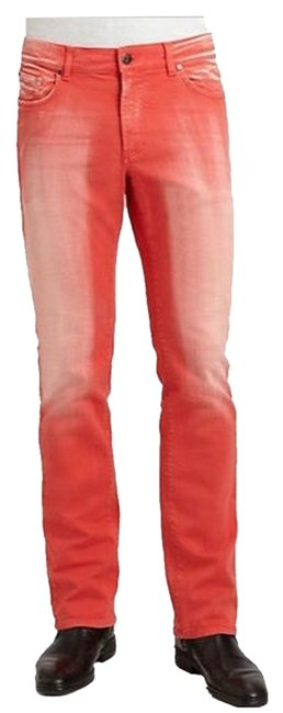 Item - Red Distressed Relaxed Fit Jeans Size 36 (14, L)