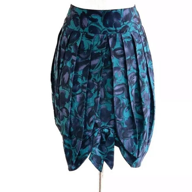 Item - Green Anna Sui For Floral Tulip Skirt Size 4 (S, 27)