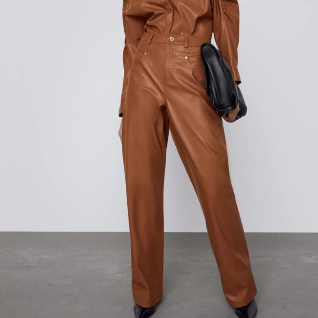 Item - Brown Leather Pants Size 6 (S, 28)