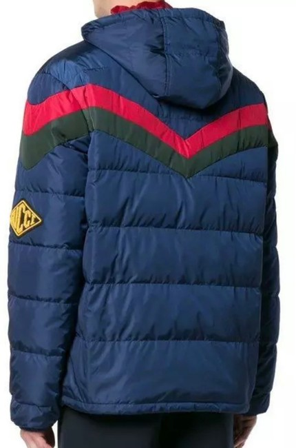 Item - Blue Red Green New Current Web Colors Chevron Quilt Down Padded Jacket 46 Coat Size 12 (L)