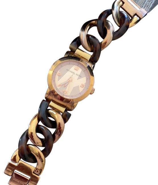 Item - Gold with Tortoise Accents On Band Watch