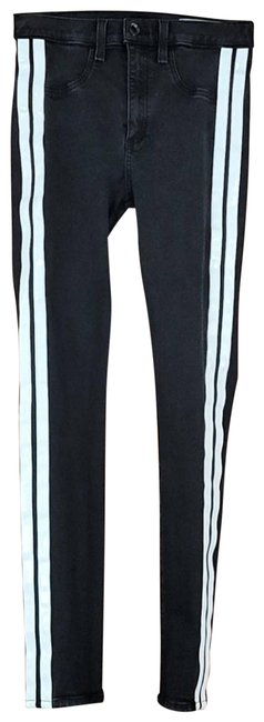 Item - Black Mito Hi Rise with Tux Stripes Skinny Jeans Size 27 (4, S)