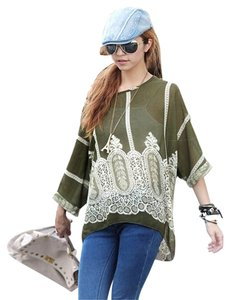 Boutique Top Olive Beige