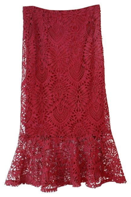 Item - Red Lace Skirt Size 4 (S, 27)