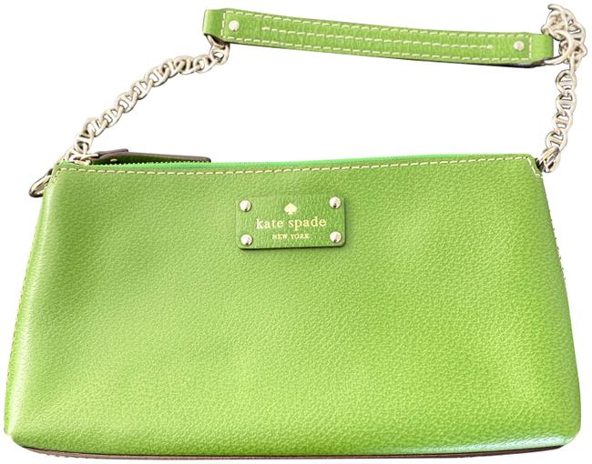 Item - Purse with High Quality Chain Strap Green Leather Shoulder Bag