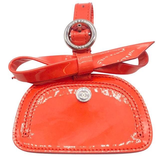 Item - Coral Patent Leather Luggage Tag