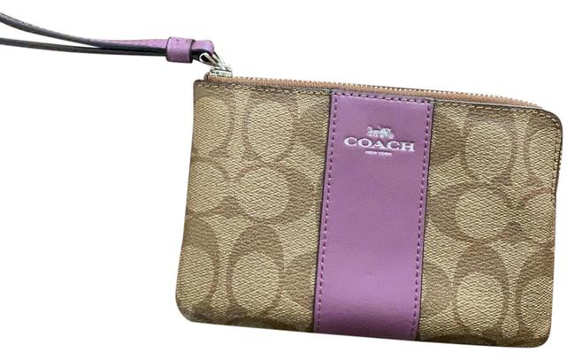 Item - Brown and Purple Leather Wristlet