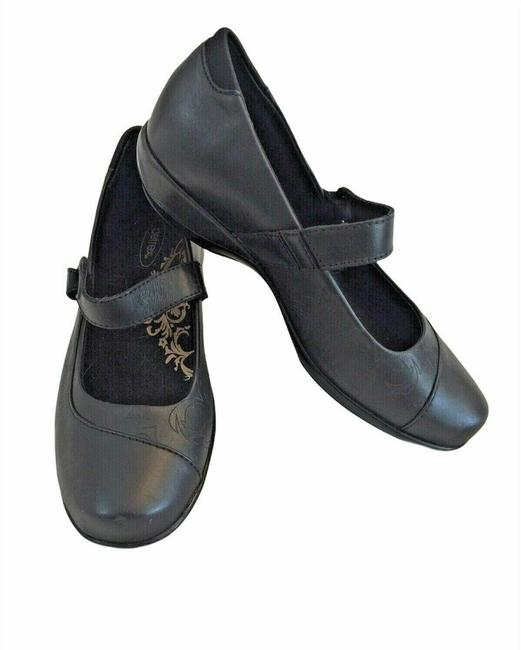 Item - Black Leather Mary Jane Flats Size US 7.5 Wide (C, D)