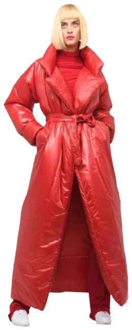 Item - Red Sleeping Bag Puffer Quilted Long Coat Size 6 (S)