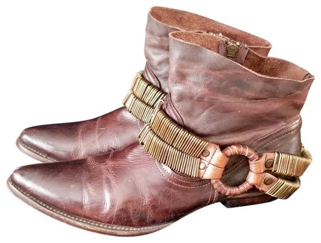 Item - Burgundy Eve Ankle Harness Boots/Booties Size US 10 Regular (M, B)