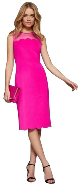Ted Baker Hot Pink Rn95229 Mid-length Night Out Dress Size 6 (S) Ted Baker Hot Pink Rn95229 Mid-length Night Out Dress Size 6 (S) Image 1