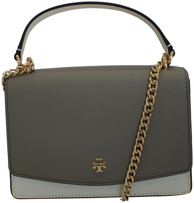 Item - Shoulder Bag 73154 Emerson Colorblock Mini New Ivory/ French Grey Leather Tote