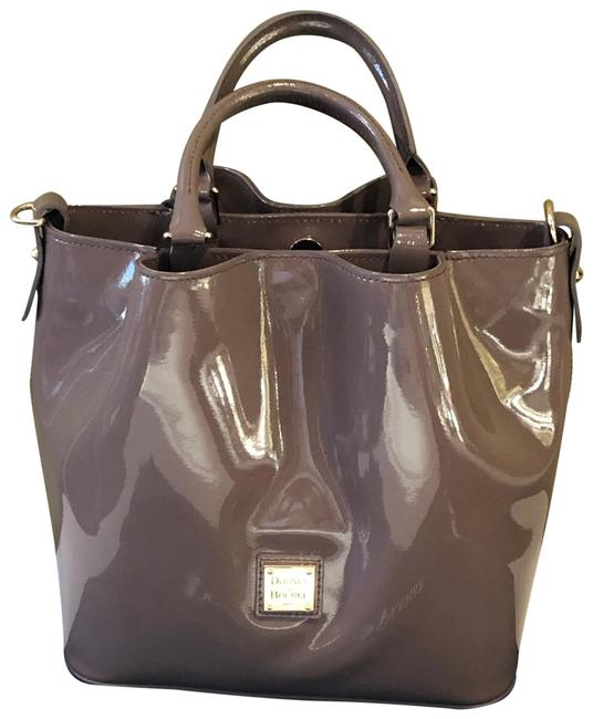 Item - Small Barlow Taupe Patent Leather Tote