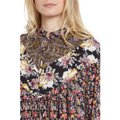 Free People Mustard Black Mini Floral Tunic Size 4 (S) Free People Mustard Black Mini Floral Tunic Size 4 (S) Image 3