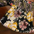 Free People Mustard Black Mini Floral Tunic Size 4 (S) Free People Mustard Black Mini Floral Tunic Size 4 (S) Image 5