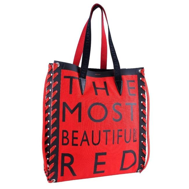 Item - Bag Cabalace The Most Ladies Red Color Canvas Tote