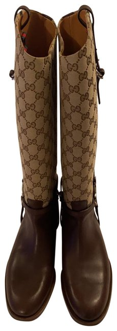 Item - Brown/Beige Gg Supreme Boots/Booties Size US 9 Wide (C, D)