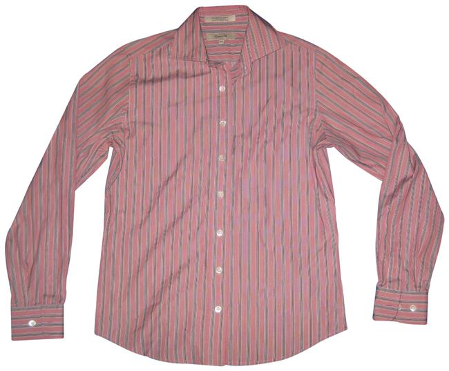 Item - Pink Mauve Collared Cotton Shirt Button-down Top Size 2 (XS)