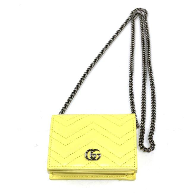 Item - Yellow Marmont Gg Card Case Calf Leather 625693 Wallet