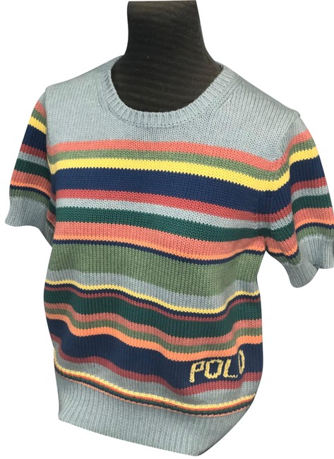 Item - Multistripe Crew Neck Blue/Multi Sweater