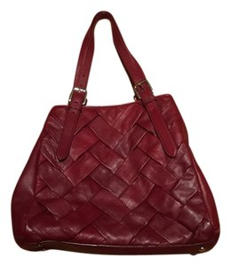 Cole Haan Leather Woven Shoulder Bag