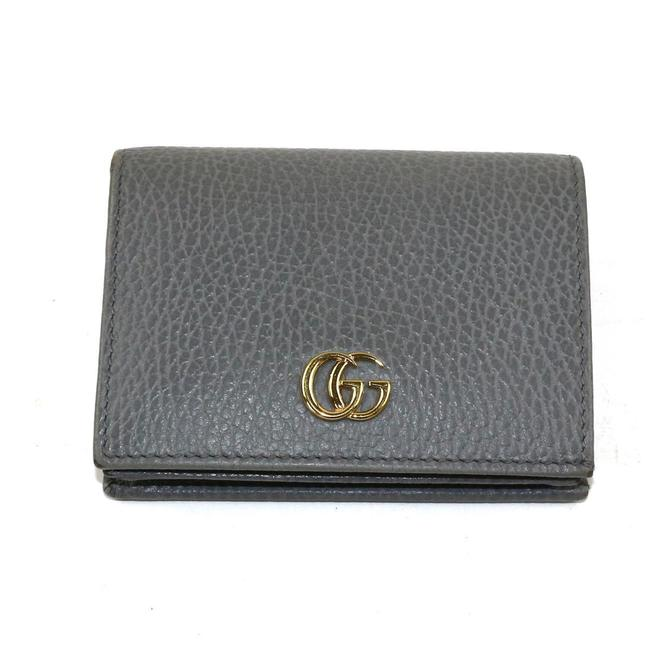 Item - Gray Marmont Gg Compact Leather 456125 Wallet