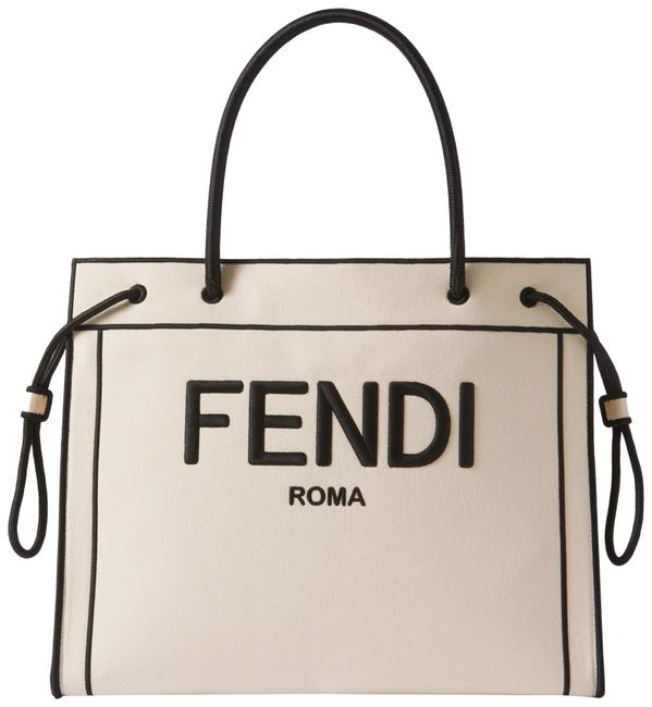 Item - Large Embroidered White Canvas Tote