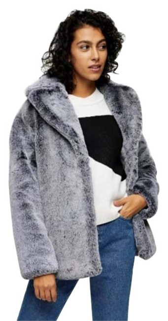 Item - Gray Faux Coat Size 10 (M)