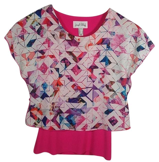 Item - Pink Flutter Sleeve Layered Blouse Size 4 (S)