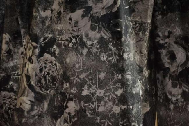 Chico's Black & White Floral Pattern Jacket
