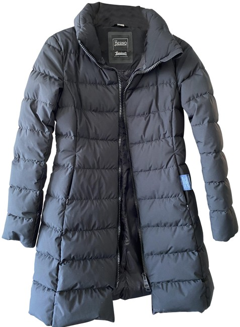 Item - Black Gore Fitted Windstopper Down Puffer Jacket Coat Size 6 (S)