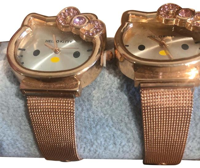 Item - Copper Cat Face Watch With Bracelet