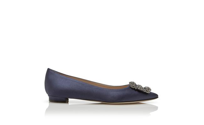 Item - Navy Blue Hangisi Flats Size EU 38 (Approx. US 8) Regular (M, B)