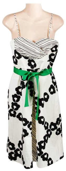 Item - White Black & Green 14147417 Mid-length Night Out Dress Size 8 (M)