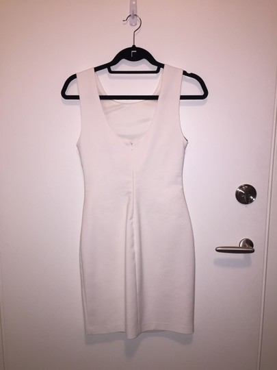 Zara White Beaded Casual Wedding Dress Size 2 (XS)