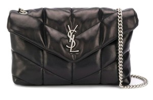 Item - Monogram Loulou Crossbody Lou New Ysl Mini Puffer Quilted Purse Black Leather Tote
