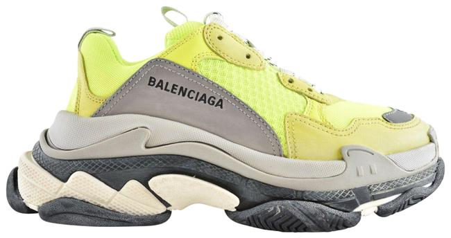 Item - Yellow Triple S Womens Neon Grey Speed Platform Lace Flat Trainers Sneakers Size EU 38 (Approx. US 8) Regular (M, B)