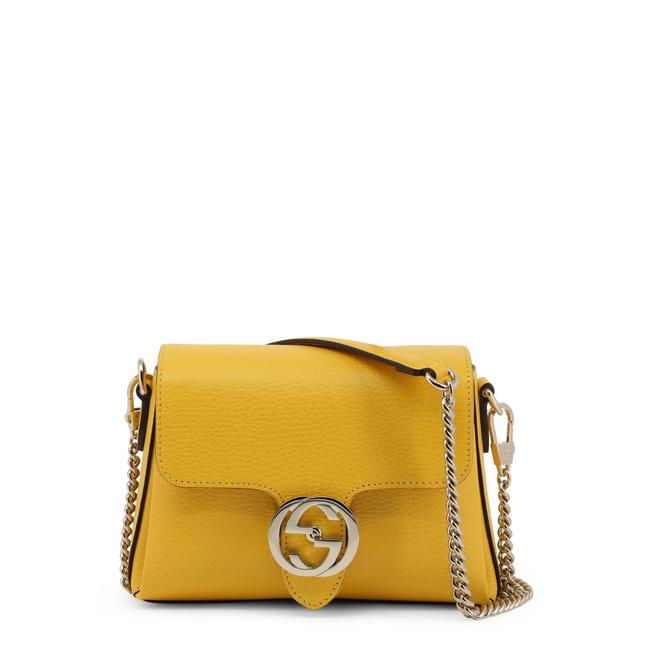 Item - Shoulder Rare Interlocking Gg Chain Yellow Leather Cross Body Bag