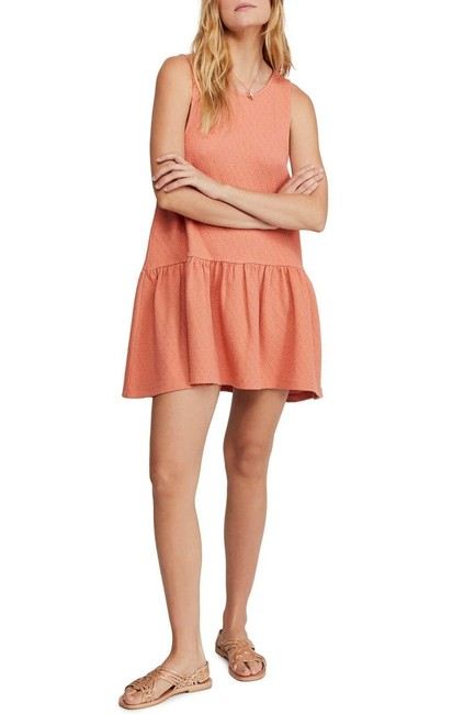 Item - Coral Easy Street Scoop-back Sleeveless Short Casual Dress Size 8 (M)