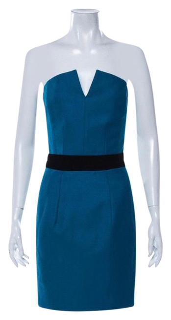 Item - Turquoise Strapless Wool Short Cocktail Dress Size 4 (S)