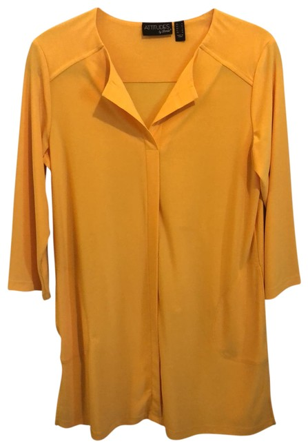 Item - Gold/Bright Yellow Activewear Top Size 6 (S)